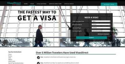 VisaDirect ウェブサイト