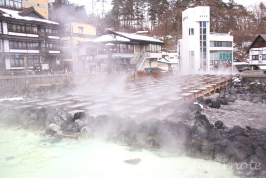 草津温泉, 湯畑, Kusatsu-Onsen, Yubatake, Hot water field