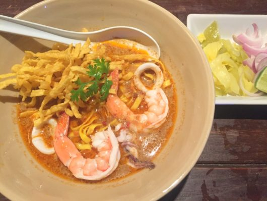 海鮮カオソーイ(Seafood Kao Soy) at Kai Soy Nimman