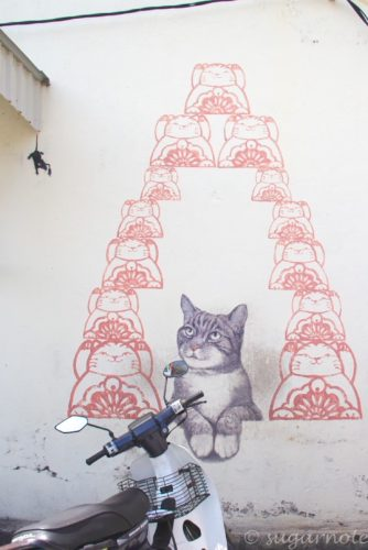 Love Me Like Your Fortune Cat, Malaysia, Penang, World Heritage, George Town, Street Art, マレーシアペナン島, 世界遺産ジョージタウン, ストリートアート,