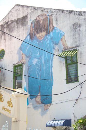 Kungfu Girl, Malaysia, Penang, World Heritage, George Town, Street Art, マレーシアペナン島, 世界遺産ジョージタウン, ストリートアート,