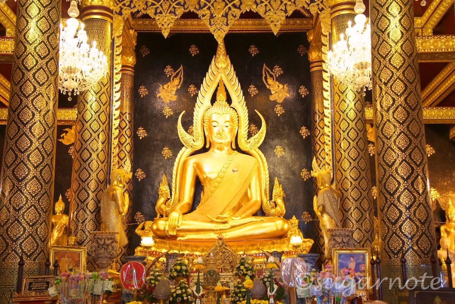 Wat Phra Sri Ratana Mahathat, Wat Yai, ワット・プラ・シー・ラタナー・マハータート, ワット・ヤイ, チンナラート仏像, Phra Buddha Chinnaraj Image