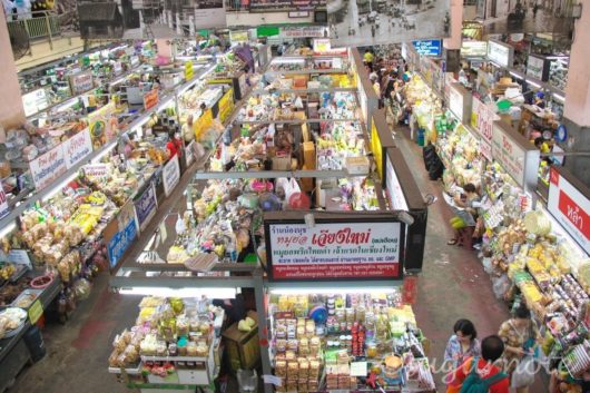 Warorot Market in Chiang Mai, ワローロット市場