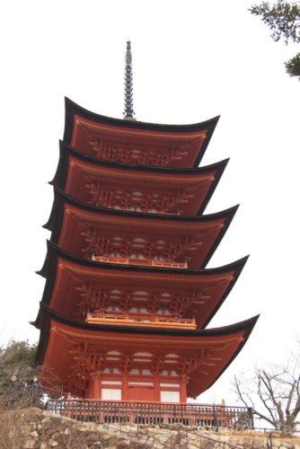 宮島, 五重塔, Miyajima, Five Storied Pagoda