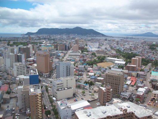 五稜郭タワー、函館山、Goryokaku Tower, Hakodate Mountain