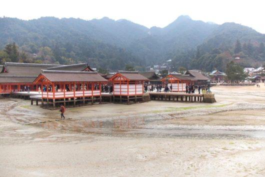 宮島, 厳島神社, 干潮時, Miyajima, Itsukushima Shrine, At Low Tide