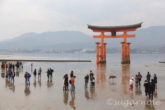 宮島, 厳島神社, 干潮時, 大鳥居, Miyajima, Itsukushima Shrine, O-Torii Gate, At Low Tide