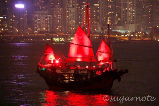 香港シンフォニー・オブ・ライツ, Hong Kong A Symphony of Lights , サンパン, Sampan