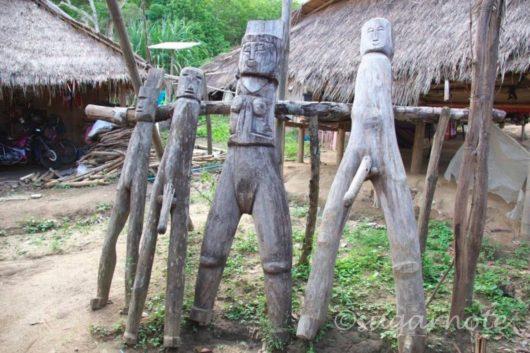 山岳民族のヤオ族とアカ族が暮らす村, Yao, Akha Hilltribe Village, 木隅