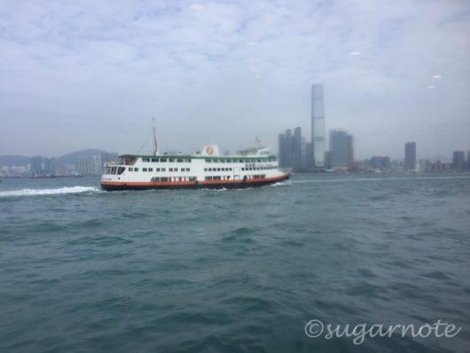 香港行きのコタイウォータージェット(Cotai Water Jet)からの眺め, View from Cotai Water Jet to Hong Kong