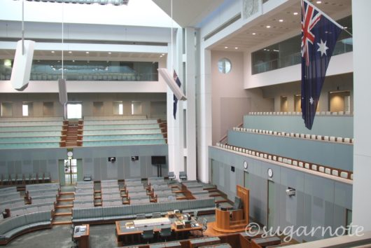 オーストラリア国会議事堂, Australian Parliament House, House of Representatives, 衆議院