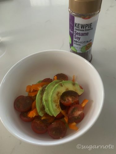 Vegetable and dressing